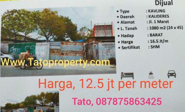 Jual Kavling Jalan 1 Maret Kalideres di Surabaya 087875863425