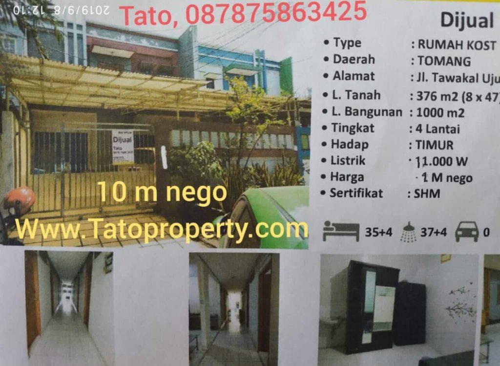 Jual Rumah Kos Murah Grogol Jakarta Barat tatoproperty 087875863425