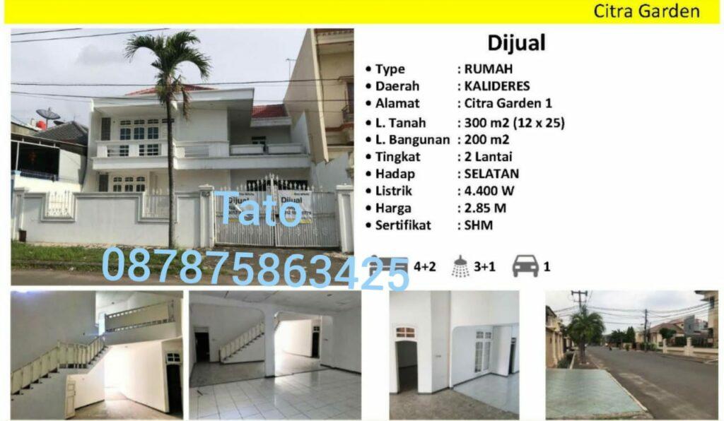 Jual Rumah Citra 1 murah SHM KPR di Kalideres 087875863425