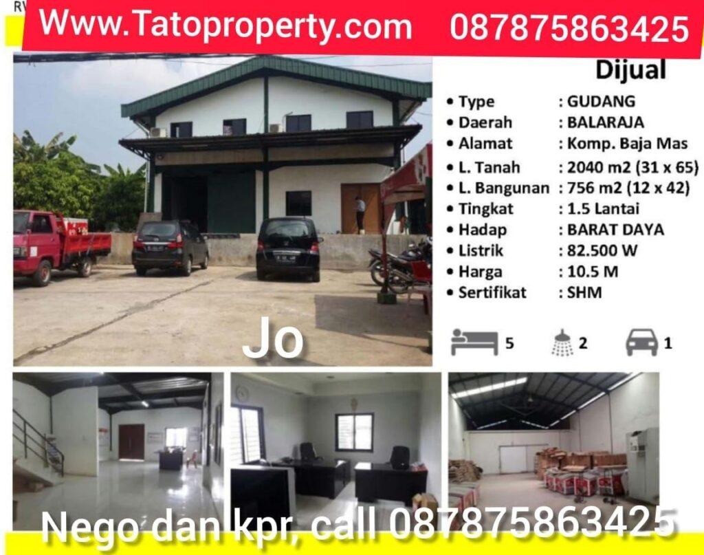 Tato Jual Gudang Balaraja di Citra Garden Tatoproperty 087875863425