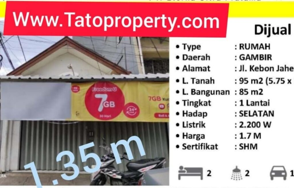 FAST Selling Petojo 1.35 miliar Kebon Jahe Jak-pus Tato 087875863425